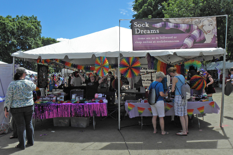 Our booth  Full of rainbows and sparkles!  (shot by Dreamer Nina)