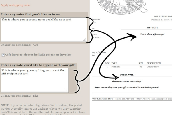 What Is Invoice Price Vs Msrp Excel Tips And Tricks Gift Notes   Sock Dreams Excel Receipt Template Free with Receipt Acknowledged Excel So What You Type In The Order Notes Box Goes At The Bottom Of The Invoice  And What Goes In The Gift Notes Box Which Only Appears If You Check The  Gift  Receipts App Word