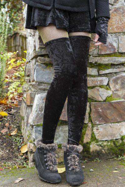 b82f78c2f95 Crushed Velvet Thigh Highs are perfect for any Holiday
